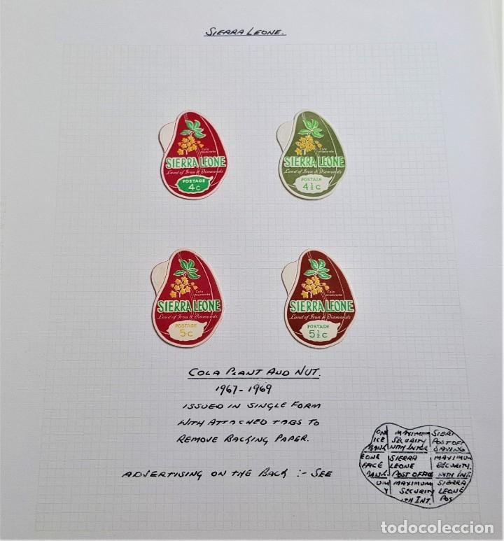 1967-1969 SIERRA LEONE FOLIO SET DE SELLOS (Sellos - Extranjero - África - Otros paises)