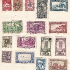 Sellos: ÁFRICA. LOTE DE 16 SELLOS DE MARRUECOS ARGELIA Y TÚNEZ.. Lote 177964177