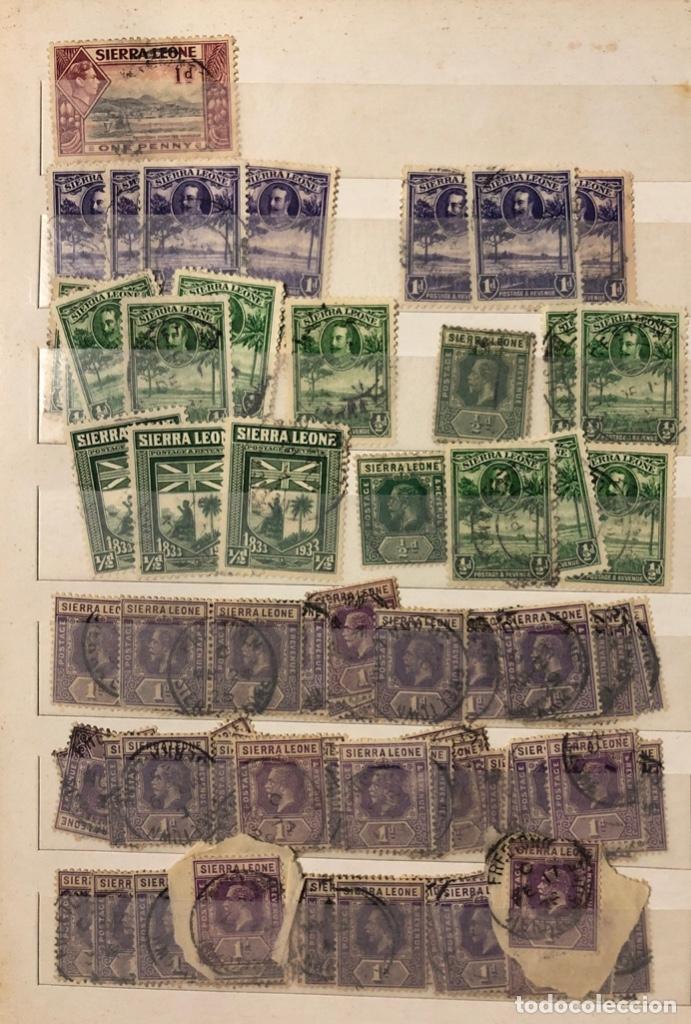 Sellos: ALBUM CON 200 SELLOS DE SIERRA LEONA Y NIGERIA. VER FOTOS - Foto 3 - 178092878