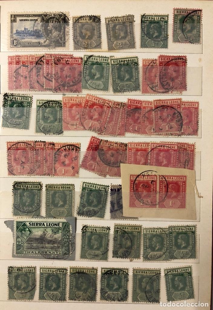 Sellos: ALBUM CON 200 SELLOS DE SIERRA LEONA Y NIGERIA. VER FOTOS - Foto 4 - 178092878
