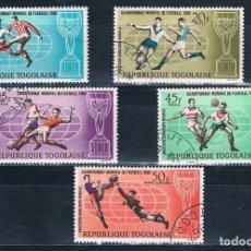 Sellos: REPÚBLICA DE TOGO SELLOS USADOS 1966 FÚTBOL. Lote 178150158