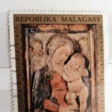 Sellos: MADAGASCAR, 1 SELLO USADO. Lote 178171388