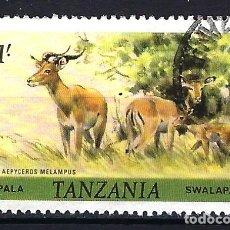 Sellos: TANZANIA 1980 - IMPALA - ANIMALES FAUNA - USADO (O). Lote 178447516