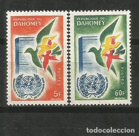 DAHOMEY EXCOLONIA FRANCESA YVERT NUM. 168/169 ** SERIE COMPLETA SIN FIJASELLOS (Sellos - Extranjero - África - Otros paises)
