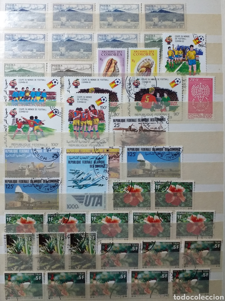 SELLOS DE ISLAS COMORES, FLORES, FUTBOL, CONCHAS ... (Sellos - Extranjero - África - Otros paises)