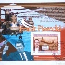 Sellos: GUINEA FRANK PIASECKI HOJA BLOQUE DE SELLOS USADOS. Lote 179400460