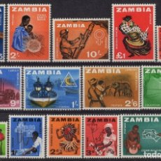 Sellos: ZAMBIA 1964 IVERT 4/17 * SERIE BÁSICA. Lote 180089156
