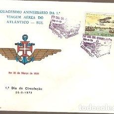 Sellos: MOZAMBIQUE & FDC ULTRAMAR FDC QUINCUAGÉSIMO CENTENARIO DEL I SOUTH ATLANTIC AIR TRAVEL 1972 (665). Lote 180176775