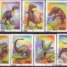 Sellos: TANZANIA 1506/12 ANIMALES PREHISTÓRICOS. Lote 180227416