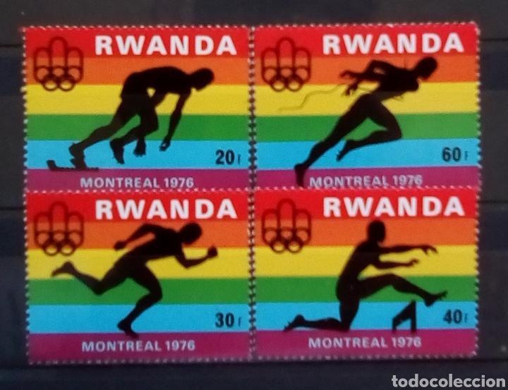 RWANDA OLIMPIADAS DE MONTREAL 1976 SERIE COMPLETA DE SELLOS NUEVOS (Sellos - Extranjero - África - Otros paises)