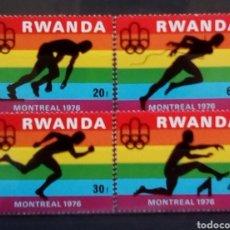 Sellos: RWANDA OLIMPIADAS DE MONTREAL 1976 SERIE COMPLETA DE SELLOS NUEVOS. Lote 180403083