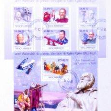 Sellos: MOZAMBIQUE GALILEO GALILEI 2 HOJAS BLOQUE DE SELLOS USADOS. Lote 182209003