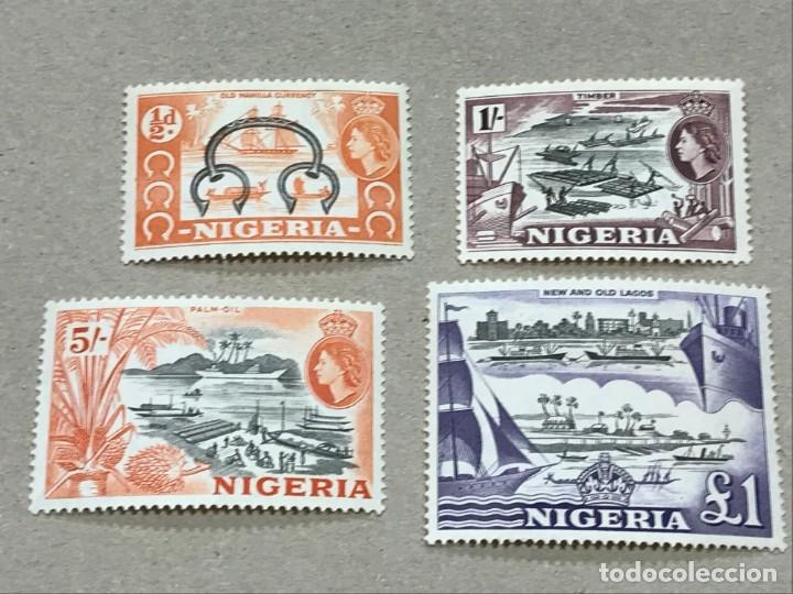 NIGERIA LOTE DE 4 SELLOS NUEVOS, MNH , OCUPACIÓN BRTÁNICA MOTIVOS LOCALES AÑO 1953 (Sellos - Extranjero - África - Otros paises)