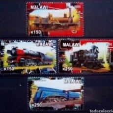 Sellos: MALAWI TRENES SERIE DE SELLOS NUEVOS. Lote 182965531