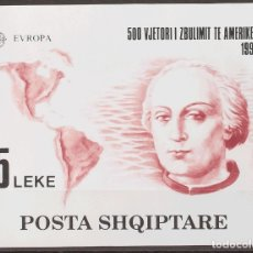 Sellos: ALBANIA, HOJA BLOQUE. MNH **YV 73. 1992. HOJA BLOQUE. MAGNIFICA. YVERT 2014: 90 EUROS. REF: 67130. Lote 183145917
