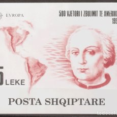 Sellos: ALBANIA, HOJA BLOQUE. MNH **YV 73. 1992. HOJA BLOQUE. MAGNIFICA. YVERT 2014: 90 EUROS. REF: 67129. Lote 183145955