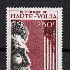 Sellos: ALTO VOLTA AEREO 40** - AÑO 1967 - 2º ANIVERSARIO DE LA MUERTE DEL DOCTOR ALBERT SCHWEITZER. Lote 183714607