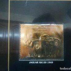 Sellos: SELLO ORO 22K REPUBLICA DE ZAMBIA JAGUAR XK 120 1949 ZAMBIA K1.50 MIREN FOTOS. Lote 184184920