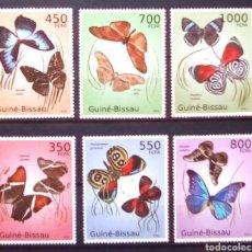 Francobolli: MARIPOSAS SERIE COMPLETA DE SELLOS NUEVOS DE GUINEA BISSAU. Lote 184476051