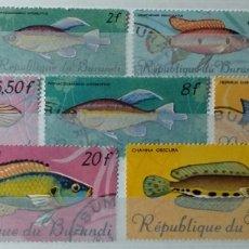 Sellos: SELLOS DE BURUNDI, PECES 1967. Lote 184584167
