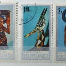 Sellos: SELLOS DE BURUNDI, ARTE AFRICANO 1967. Lote 184584372