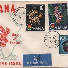 Sellos: SOBRE ILUSTRADO DE GHANA, CIRCULADO A EEUU. Lote 185916208