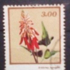 Sellos: MOZAMBIQUE FLORES SELLO USADO. Lote 186344887