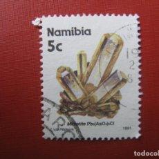 Sellos: NAMIBIA 1991, MINERALES. Lote 187581071