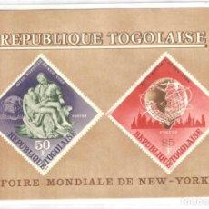 Sellos: HOJITA TOGO,1965,NUEVA,GOMA ORIGINAL,SIN FIJASELLOS.FERIA MUNDIAL NUEVA YORK.. Lote 188437230
