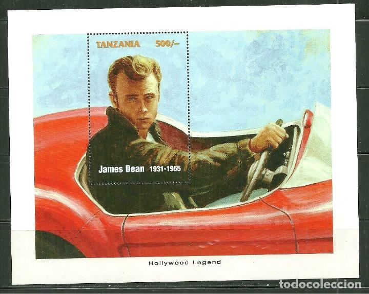 Sellos: Tanzania 1996 HB *** Leyendas de Hollywood - James Dean - Cine - Foto 1 - 189246881