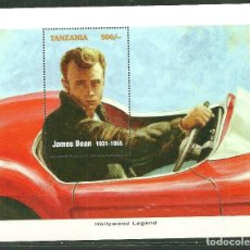 Sellos: TANZANIA 1996 HB *** LEYENDAS DE HOLLYWOOD - JAMES DEAN - CINE. Lote 189246881