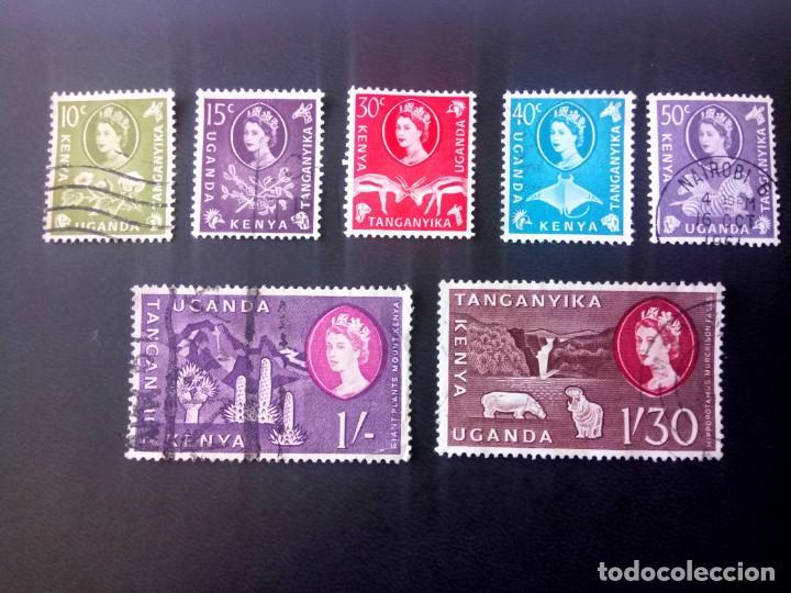 KENYA UGANDA Y TANGANIKA 1960, ISABEL II (Sellos - Extranjero - África - Otros paises)