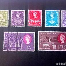 Timbres: KENYA UGANDA Y TANGANIKA 1960, ISABEL II . Lote 189986636