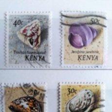 Sellos: KENIA, 4 SELLOS USADOS DIFERENTES. Lote 190571801