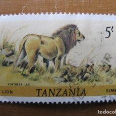 Sellos: TANZANIA 1980, LEÓN, YVERT 173 . Lote 191059557