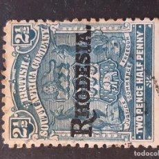Sellos: RODESIA RHODESIA, 1909, YVERT 4. Lote 191335563