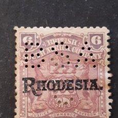 Timbres: RODESIA RHODESIA, 1909, YVERT 7, PERFORADO BSA. Lote 191335635
