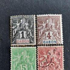 Sellos: GABÓN, COLONIAS FRANCESAS, 1904-07, YVERT 16,18,19,20. Lote 191481842