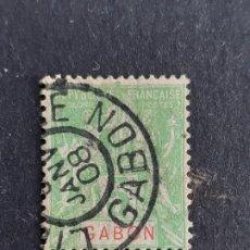 Sellos: GABÓN, COLONIAS FRANCESAS, 1904-07, YVERT 19. Lote 191481895