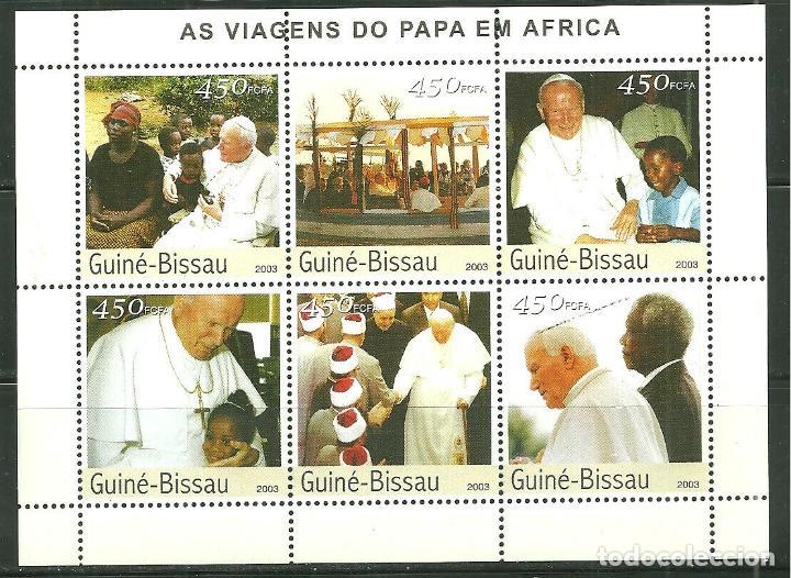 GUINEA BISSAU 2003 IVERT 1576/81 *** VISITA DE S.S. EL PAPA JUAN PABLO II A AFRICA (II) - RELIGIÓN (Sellos - Extranjero - África - Otros paises)