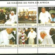 Sellos: GUINEA BISSAU 2003 IVERT 1576/81 *** VISITA DE S.S. EL PAPA JUAN PABLO II A AFRICA (II) - RELIGIÓN. Lote 192226425