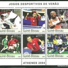Sellos: GUINEA BISSAU 2003 IVERT 1312/17 *** JUEGOS OLIMPICOS DE ATENAS - DEPORTES. Lote 193001152