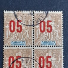 Timbres: DAHOMEY, 1912, YVERT 38 X4. Lote 193986667