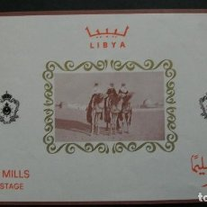 Sellos: /16.02/-LIBIA-1966-BLOQUE Y&T 16 (**MNH)-SIN FIJASELLOS. Lote 194219041