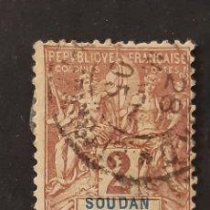 Sellos: SUDÁN FRANCÉS, YVERT 4. Lote 194224641