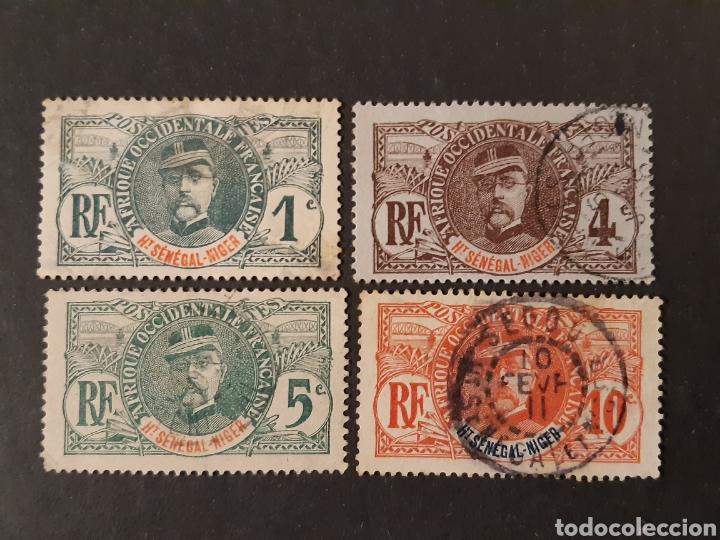 ALTO SENEGAL NÍGER, YVERT 1, 3, 4 Y 5 (Sellos - Extranjero - África - Otros paises)