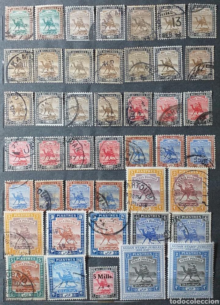 Sellos: Sellos de Sudán nuevos y usados en album de 10 páginas - Foto 4 - 194227836