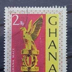 Sellos: GHANA_SELLO USADO_ESTANDARTE AGUILA_YT-GH 280 AÑO 1967 LOTE 7108. Lote 194290840