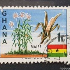 Sellos: GHANA_SELLO USADO_MAIZ BANDERA_YT-GH 278 AÑO 1967 LOTE 7115. Lote 194291031