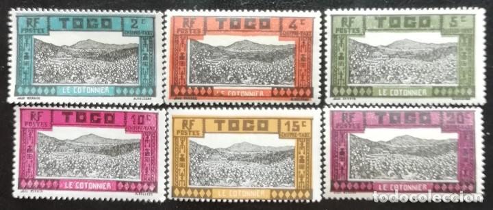 1925. TOGO. SELLOS TAXA. 9 / 14. CULTIVOS DE ALGODÓN. MONTE. SERIE COMPLETA. NUEVO. (Sellos - Extranjero - África - Otros paises)
